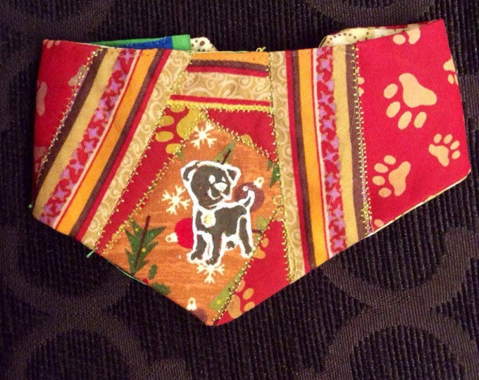 Featured listing image: QK1-1435 XS Muddy Dog Print Quilt-Kerchief