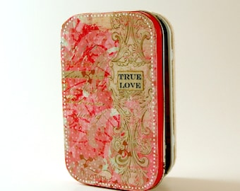 Sale! True Love talisman altered tin valentine