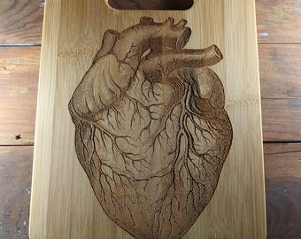 Personalized Cutting Board, Human Heart, Cardiologist, Anatomical Art, Anatomical Heart, Anatomy Heart, Gift for Doctor, Anatomy, Doctor