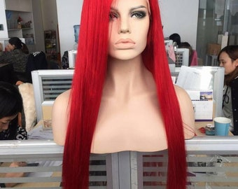 Candy Apple Red lace front wig