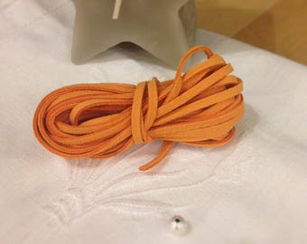 Tangerine Orange suede cord
