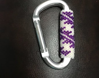 Hand Beaded Native American Carabiner Keychain