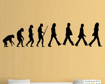 The Beatles Evolution Cool Music Studio Wall Art Stickers Decals Vinyl Home Room[LargeBlack] & Beatles wall decal | Etsy