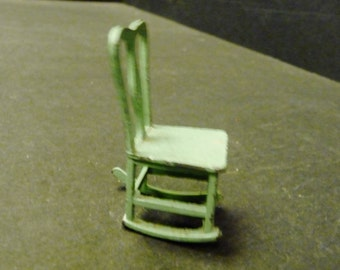 30% OFF -Tootsietoy dollhouse metal rocking chair