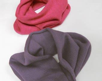 Children's cashmere / silk easy to wear snoods