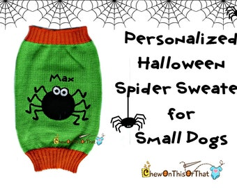 Knitted Spider Sweater for Small Dogs - Perfect for Halloween Costume
