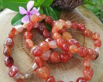 Carnelian Bracelet, Gemstone Bracelet, Gemstone Jewelry, Sacred Adornment, Gifts for Her, Carnelian