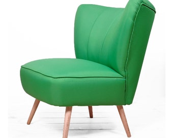 vintage coctail armchair green - full restored