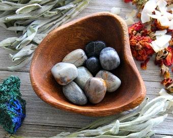 ONE Picasso Jasper Tumbled Stone, Base Chakra Healing Crystal, Birthday Gift For Him, Reiki Pocket Stone, Meditation Gem, Yoga Decor