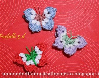 Butterflies 3d crochet