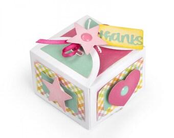 New! Sizzix Thinlits Die Set 10PK - Box, Favor w/Thanks by Lori Whitlock 662805