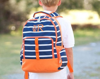 Line Up Boys Monogrammed Backpack, Boys Book Bag, Personalized Backpack, Personalized Backpack, Kids Backpacks, Back to School