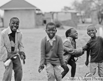 Dance Photography, Joyful, Childhood, Smile, Laughter, Africa, Happiness, Dancing, Black and White Photography, 8x10