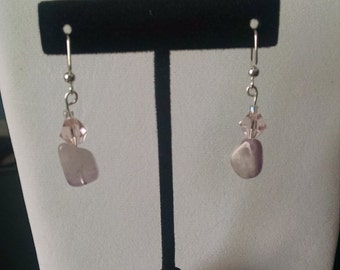 Lilac and Pink Dangle Earrings