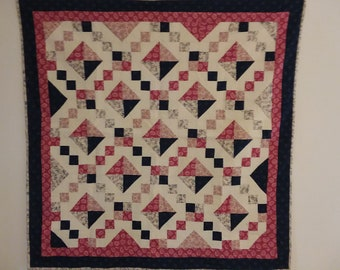Quilted Wall Hanging, Lap Quilt, Table Topper