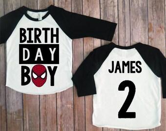 Spiderman birthday shirt, Spider-man birthday shirt, superhero birthday party, birthday party, toddler boy party, spiderman party