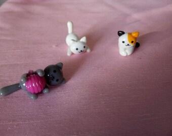 Neko Atsume - Charm - or figurine - you choose - Cats - Polymer clay - Handmade - (Inspired)