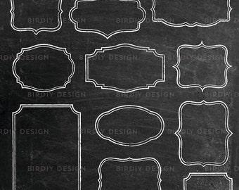 Chalkboard Floral Clipart Clip Art Chalk