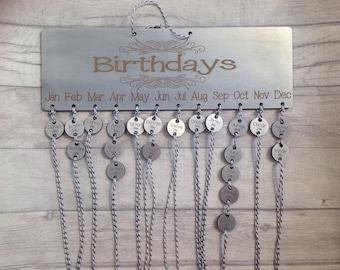 Birthday planner, reminder, calendar - birthday calendar- Mother's day gift