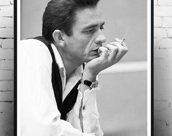 Johnny Cash - Home Decor, Vintage photography, music icon, print