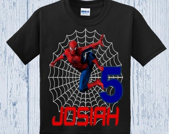 Spiderman Birthday Shirt - Raglan Options Available