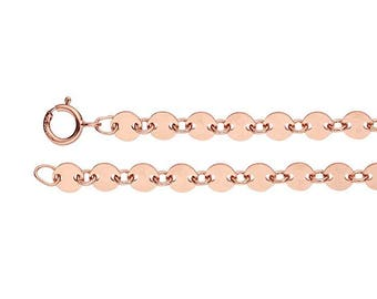 14K Rose Gold-Filled Coin Necklace - Circle Disc Chain - Coin Necklace - Bracelet or Necklace