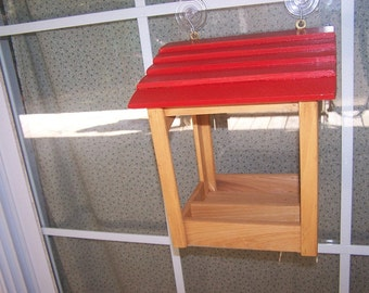 Red Roof gazebo window feeder with suction cups