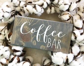 Coffee Bar Sign / Coffee / Rustic