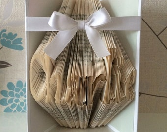 Personalised Book Fold Art