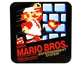 Super Mario Bros Coaster Video Game Coaster Nintendo Coaster Super Mario Drink Coaster Super Mario Brothers NES Art Nintendo Art Mario Art