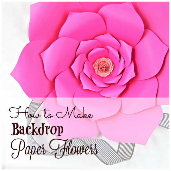 Giant paper flowers pattern templates tutorials large paper giant paper flowers pattern templates tutorials large paper flowers flower wall backdrop flowers from catchingcolorflies on etsy studio mightylinksfo