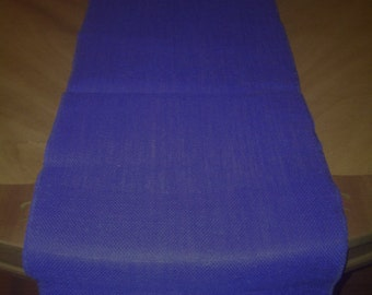 "14"" x 72"" Ecliptic Blue Burlap Table Runner (Serged edges)"