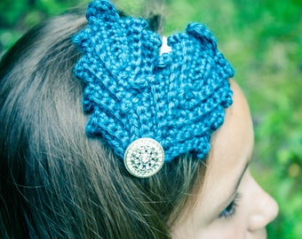 Crochet Feather Headpiece - Custom order