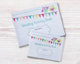 A6 Children / Kids Wedding Activity & Colouring Book / Pack / Gift - Can be personalised!