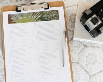 Wedding Photography Shot List