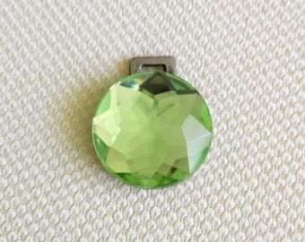 Green Rhinestone Pendant