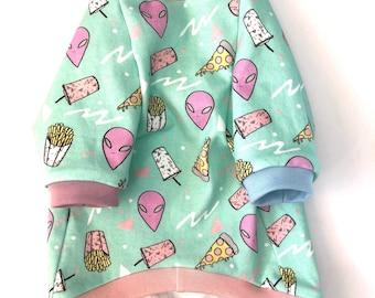 Organic Cotton 90's Alien Dog or Cat Shirt