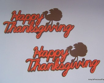 Thanksgiving die cut sign