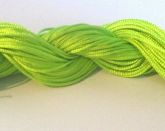 25 m wire lime green nylon 1 mm
