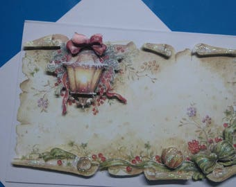 3D 823 hand made greeting card