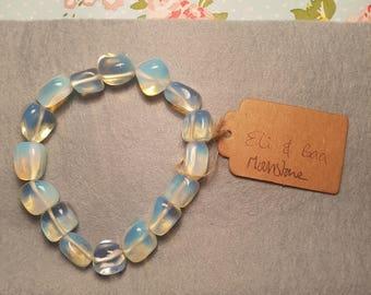 Moonstone semi precious stone bracelet