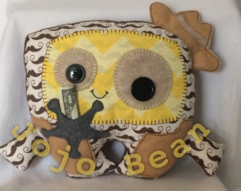 Tooth Fairy Sheriff Pillow Cuddle Monster