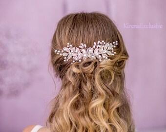 Bridal hair comb Wedding hair piece Bridal hair accessories Bridal hair pin Wedding hair clip Bridal hair piece Silver hair pin Floral pin