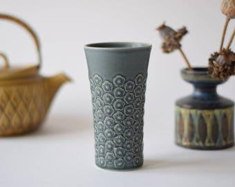 Rare! Quistgaard - AZUR Blue - Vase - Kronjyden - 1960s - Danish Mid-century Pottery