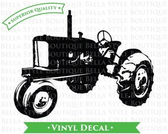 Vintage Tractor VINYL DECAL