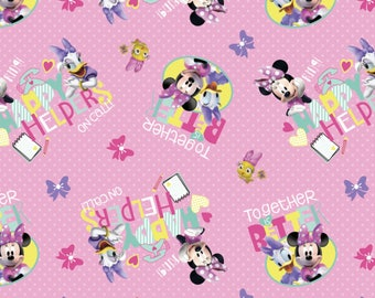 Happy Helpers on Call, Minnie Mouse and friends fabric, 1 Yard