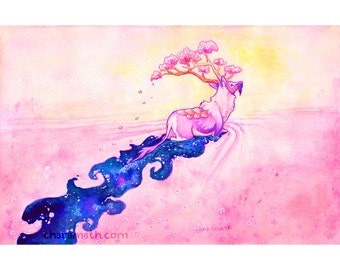 Kirin 'Cherry Blossom Sea' Galaxy - 11x14 inch print