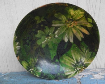 Cool Retro Lacquered Floral Bowl!