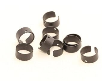 8 Pcs Black Ear Cuff , Width 9mm , Plain Ear Cuff , Dangle Ear Cuff , ETS107