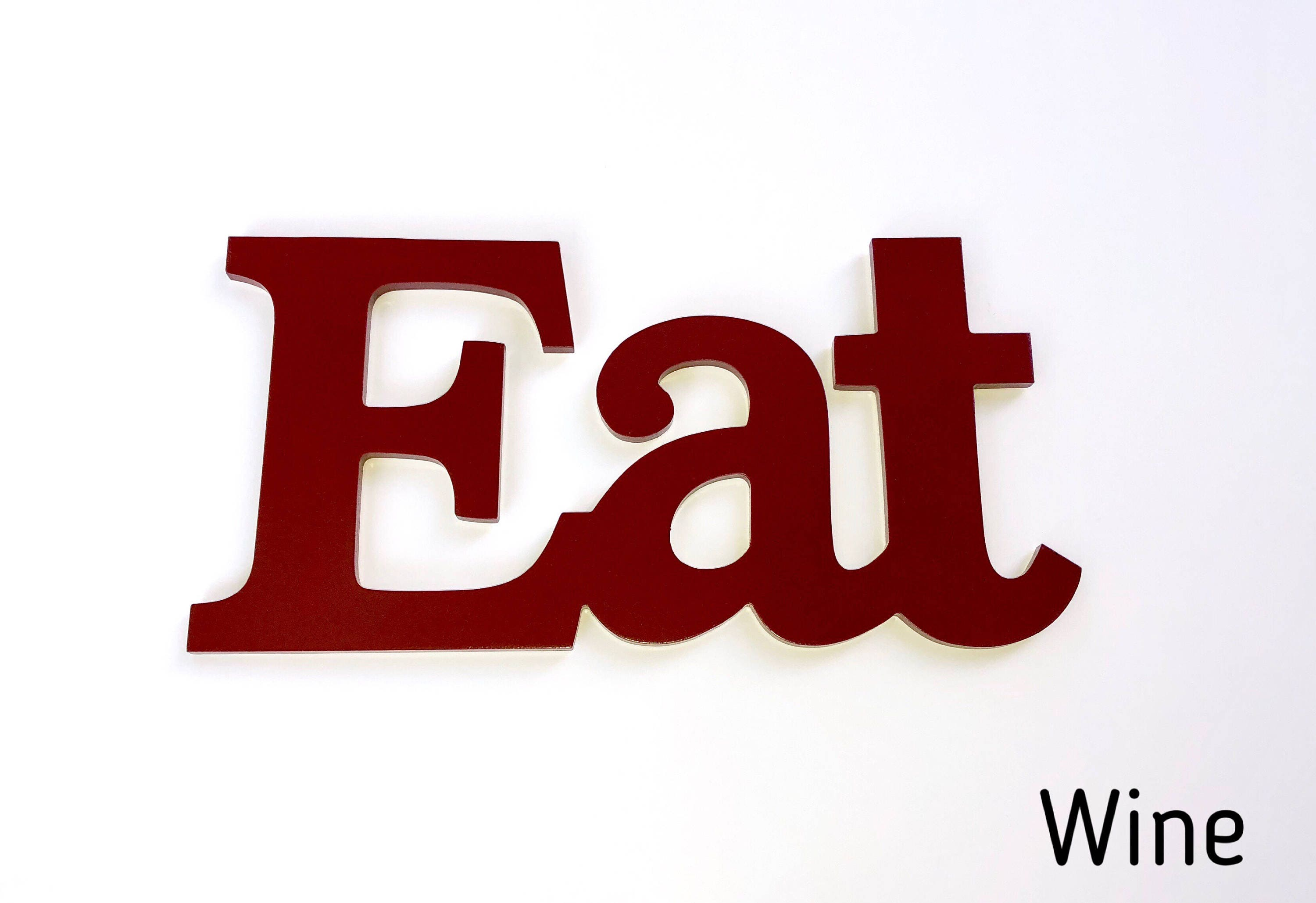 Kitchen Letters For Wall Captivating Eat Sign Kitchen Decor Eat Wall Decor Farmhouse Decor Design Decoration